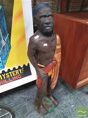 Sale 8435 - Lot 1091 - Concrete Figure of Indigenous Man