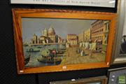 Sale 8464 - Lot 2087 - Venetian study, oil on canvas, 50 x 79 including framing