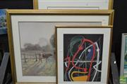 Sale 8497 - Lot 2030 - Group of (3) Decorative Prints after Modigliani, Miro, and Elioth Gruner (framed/various sizes)