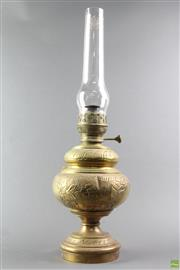 Sale 8594D - Lot 23 - Antique Brass Oil Lamp