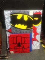 Sale 8655 - Lot 2065 - Unknown - 4 Pop Art Works incl. Boom, Superman, etc
