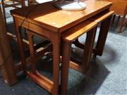 Sale 8705 - Lot 1032 - McIntosh Nest of Tables with Fold Over Top