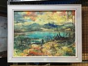 Sale 8752 - Lot 2030 - Andrew Lomnici - Lake Eucumbene oil on board, 54 x 69.5cm, signed lower right -
