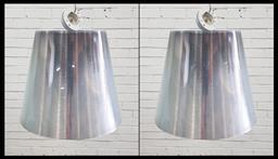 Sale 9134 - Lot 1070 - Pair of Missi K down lights by Phillipe Starck (h:45cm)
