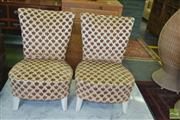 Sale 8383 - Lot 1350 - Pair of Upholstered Slipper Chairs