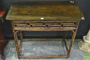 Sale 8392 - Lot 1008 - Oriental Cane Hall Table