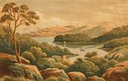 Sale 8624 - Lot 577 - John Barr Hoyte (1835 - 1913) - Overlooking the Harbour 8 x 13cm