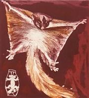 Sale 8640 - Lot 2010 - Frank Hodgkinson (1919 - 2001) - Sugar Glider, 1992 27 x 24.5cm