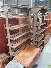Sale 8634 - Lot 1001 - Three Victorian Cast Iron Patent Bookshelves Formerly from The Royal Botanic Gardens, Sydney, Arthur Lamberts patent c1880, manufac...