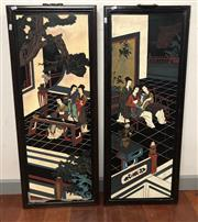 Sale 8698 - Lot 98 - Pair of Oriental Panels