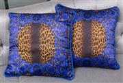 Sale 8703A - Lot 41 - A pair of Versace silk animal print cushions, 50cm
