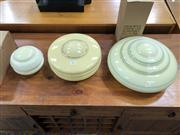 Sale 8822 - Lot 1821 - Set of 3 Art Deco Light Shades
