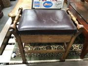 Sale 8868 - Lot 1588 - Upholstered Top Stool