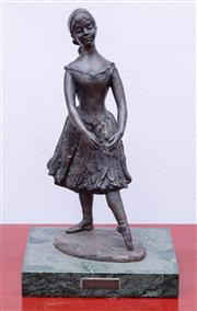 Sale 8891H - Lot 11 - A Royal Worcester limited edition bronze Prelude no 26/100 modelled Sheila Mitchell, Height 23cm