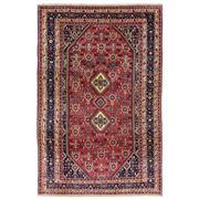 Sale 8971C - Lot 64 - Vintage Persian Qashgai Carpet, Circa 1960, 205x305cm, Handspun Wool