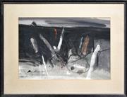 Sale 8309A - Lot 89 - Allan Hondow (1937 - ) - Untitled, 1976 (Abstract Landscape) 41 x 61cm