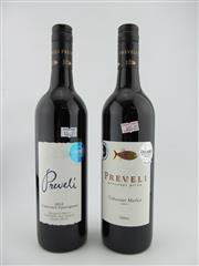 Sale 8398A - Lot 822A - 2x 2012 Preveli Wines, Margaret River - 1x Cabernet Sauvignon, 1x Cabernet Merlot