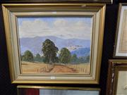 Sale 8437 - Lot 2080 - Framed Painting on Board signed Henry Dunne 74