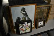 Sale 8453 - Lot 2053 - Group of Framed Pictures and Prints Incl Early Gilt Frame