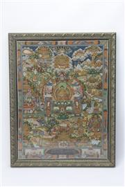 Sale 8662 - Lot 60 - Gilt Frame Thanka