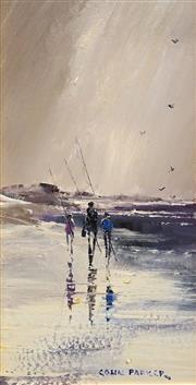 Sale 8693A - Lot 5050 - Colin Parker (1941 - ) - Returning Fishermen 33.5 x 17cm