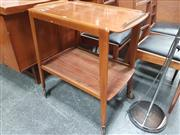 Sale 8839 - Lot 1031 - 1960s Two-Tier Teak Tea Trolley