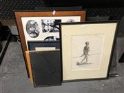 Sale 8903 - Lot 2100 - An Aboriginal Framed Print Together with Picture Frames