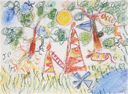 Sale 9116 - Lot 522 - John Perceval (1923 - 2000) Whittlesea, 1990 pastel on paper 27 x 37 cm (frame: 50 x 59 x 3 cm) signed and dated upper centre left