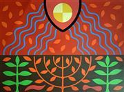 Sale 8996A - Lot 5018 - John Coburn (1925 - 2006) - The Third Day God Created the Earth, 1977 55.5 x 75 cm