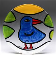 Sale 9090 - Lot 50 - Kosta Boda bird themed platter (Dia39cm) by Ulrica Hydman Vallien