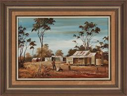 Sale 9155 - Lot 2017A - STUART MCKENZIE CULLEN (1933 - ) The Rabbiter, 1973 oil on board 33 x 49.5 cm (frame: 53 x 69 x 3 cm) signed lower right