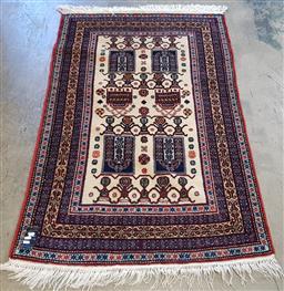 Sale 9157 - Lot 1078A - Brown and cream tone Turkish carpet (150 x 100cm)