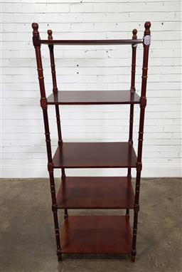Sale 9191 - Lot 1093 - timber open shelf (h1700 x w61 x d42cm)