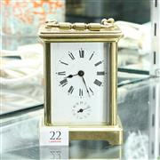 Sale 8304 - Lot 22 - French Brass Carriage Clock