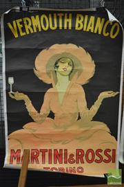 Sale 8364 - Lot 1033 - Vintage Vermouth Martini Poster