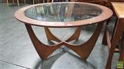 Sale 8409 - Lot 1031 - Round G-Plan Atmos Coffee Table with Glass Top