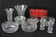 Sale 8448 - Lot 75 - Crystal Vases & Bowls