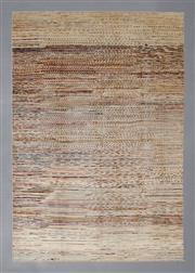 Sale 8493C - Lot 72 - Afghan Chobi Stripe 290cm x 197cm