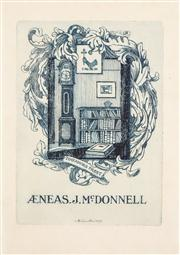 Sale 8716 - Lot 2078 - Adrian Feint (1894 - 1971) - Bookplate for J.McDonnell 11.5 x 8.5cm