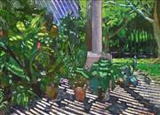 Sale 8633 - Lot 588 - Gregeory Alexander (1960 - ) - Sunlit Verandah, Watamu Kenya 35 x 53cm