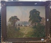 Sale 8636 - Lot 2081 - Alex Edwards - View Through the Trees, Oil on Board, SLR (a/f)