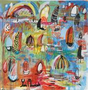 Sale 8826A - Lot 5068 - Yosi Messiah (1964 - ) - Rainbow City 85 x 85cm