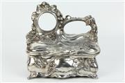 Sale 8417 - Lot 11 - Art Nouveau Pocket Watch Holder Jewellery Box