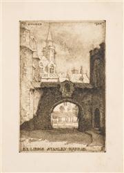 Sale 8716 - Lot 2079 - Louis Titz (1859 - 1932) - Bookplate for Stanley Harrod 1924 12 x 8cm
