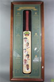Sale 8618 - Lot 22 - Framed Knights Of Cricket Bat With Certificate