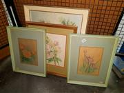 Sale 8668 - Lot 2063 - Group of 4 Original Still Life Paintings by various artists, including Hilbert Townsend