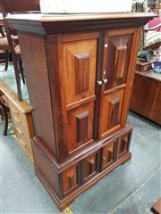 Sale 8724 - Lot 1013 - Timber Entertainment Cabinet with Panelled Doors