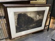 Sale 8895 - Lot 2053 - Artist Unknown - Landscape, photogravure, 63 x 85cm (frame), signed lower left