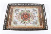 Sale 9015 - Lot 60 - A Large Italian Decorated Ceramic Filled Tray by Castilian (L:59cm x W:40cm)