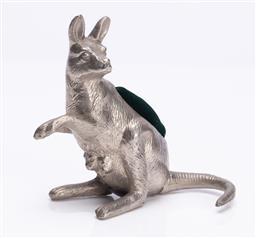 Sale 9190E - Lot 2 - A kangaroo form pin cushion, Height 9cm